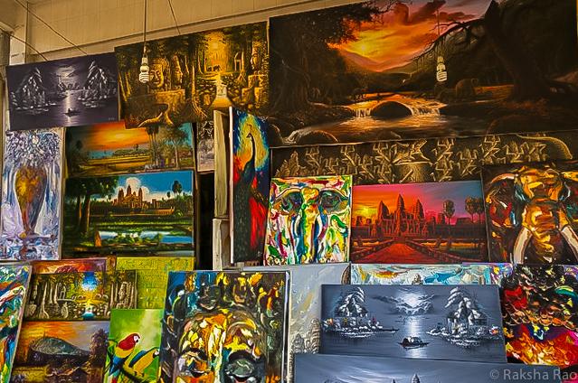 Paintings in Siem Reap