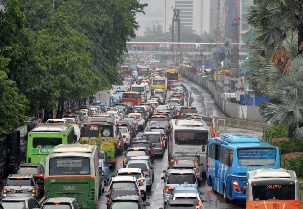 Traffic situation in Jakarta