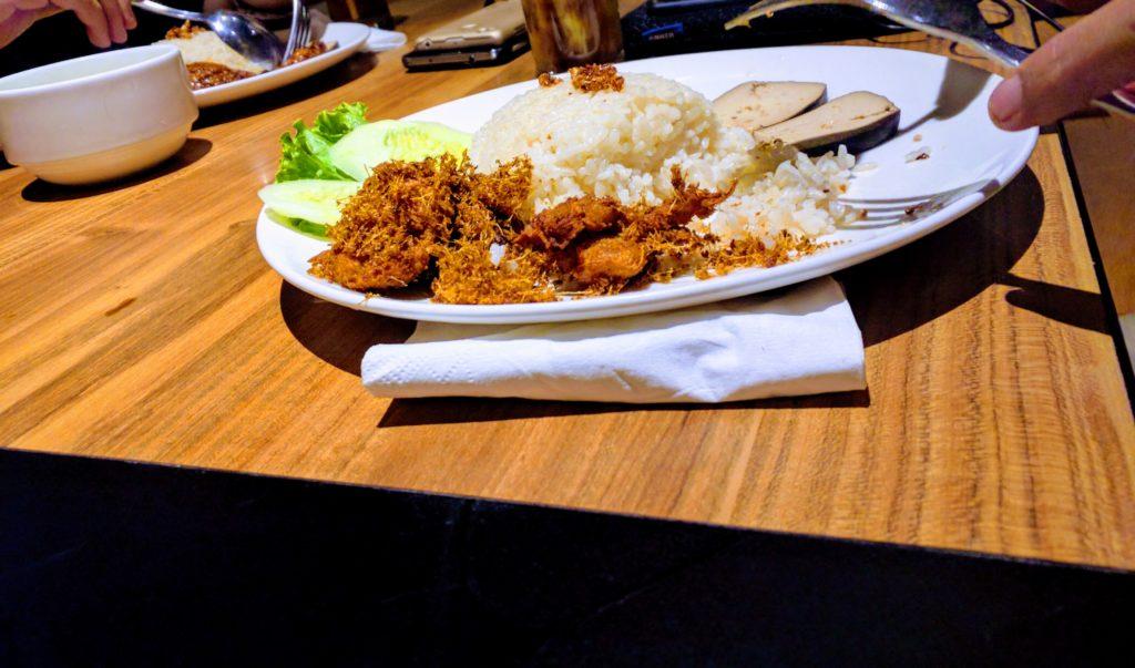 Nasi Hainam Ayam kremes Rendang dharma kitchen jakarta 3 days