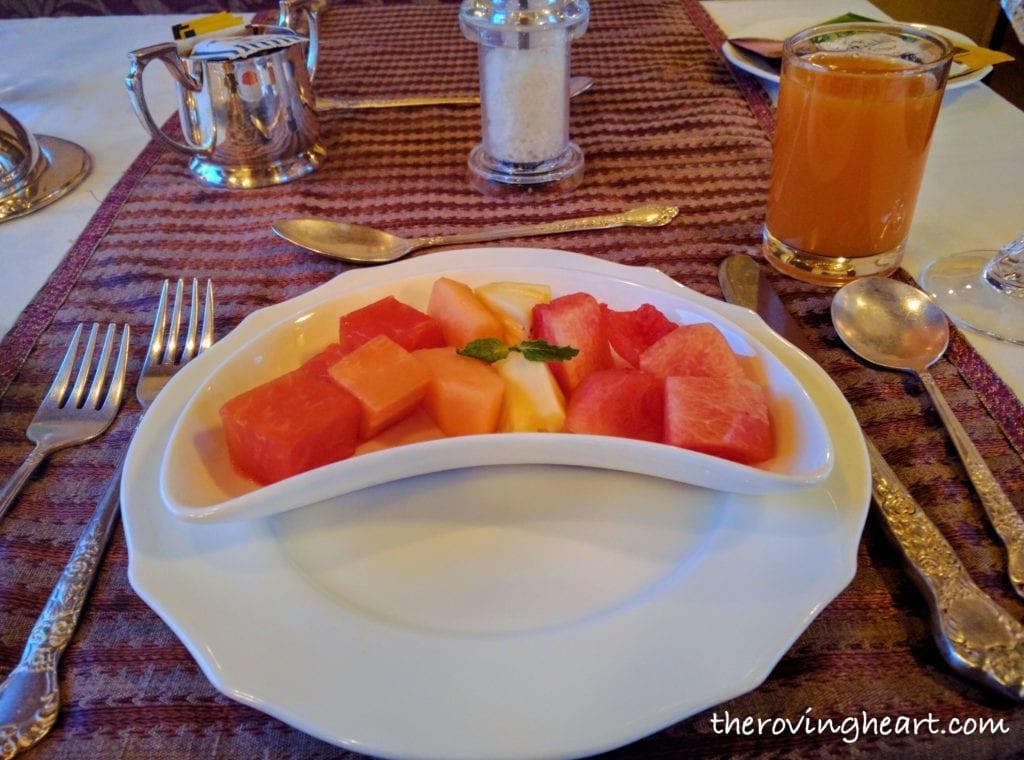Breakfast Golden Chariot luxury train