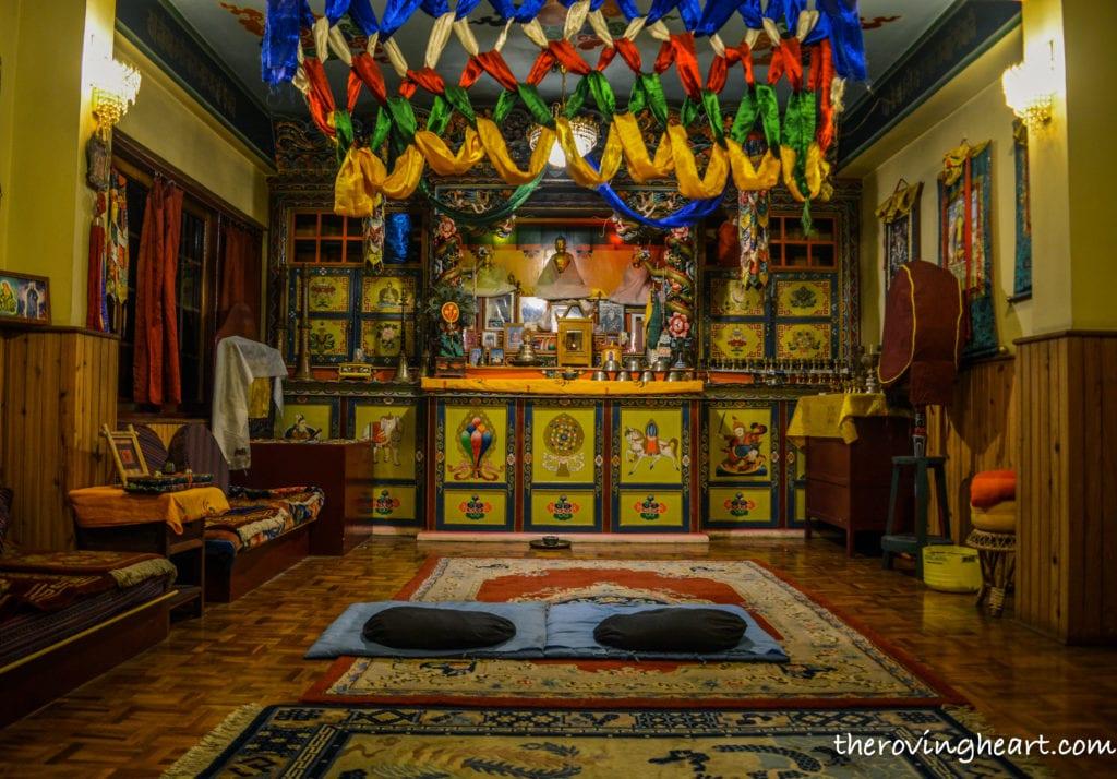 meditation room bamboo retreat gangtok hotels