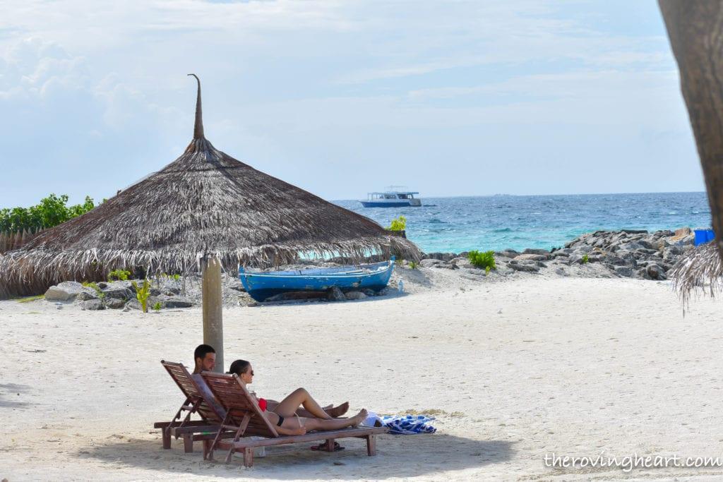 bikini beach maafushi Maldives on a budget maafushi island
