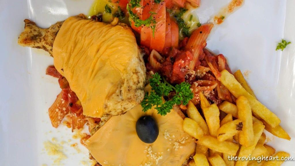 italian chicken arena beach restaurant Maldives on a budget Maafushi island