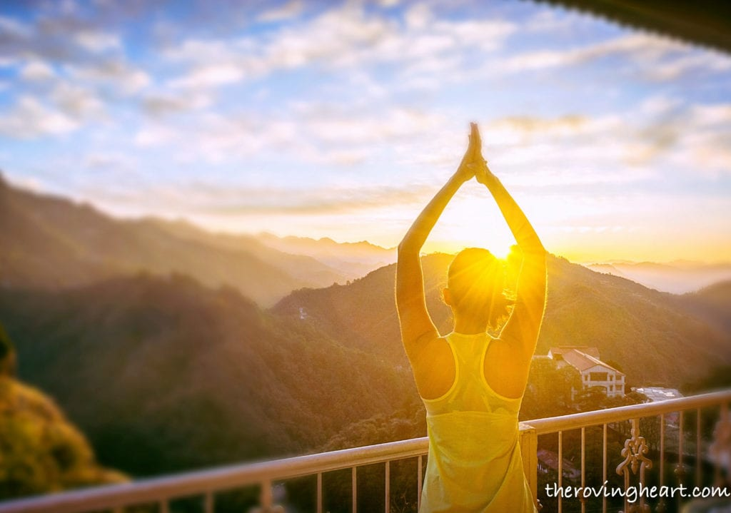 morning yoga travel photography tips