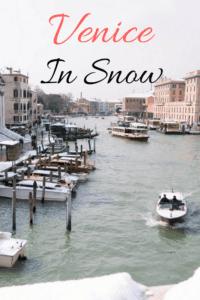 Venice in snow