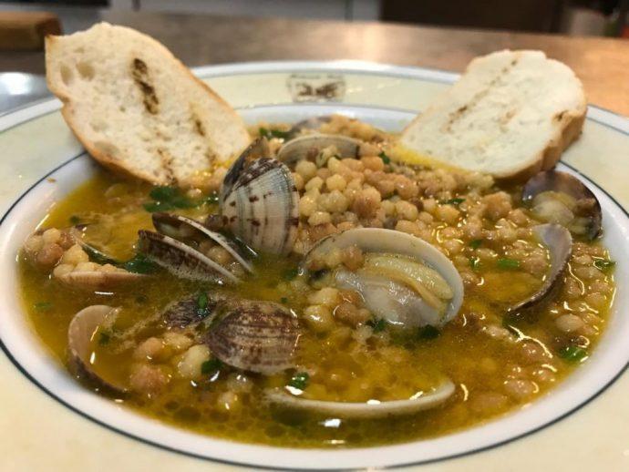 Fregola con le arselle, popular italian food, italian food by region, italian specialty foods