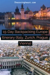 europe itinerary 2 weeks backpacking europe itinerary