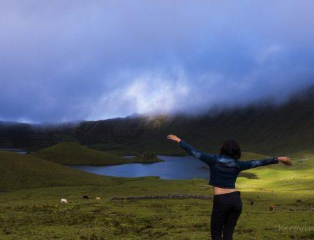 Visiting Dreamy Caldeirão in the Remote Corvo Island (Azores)
