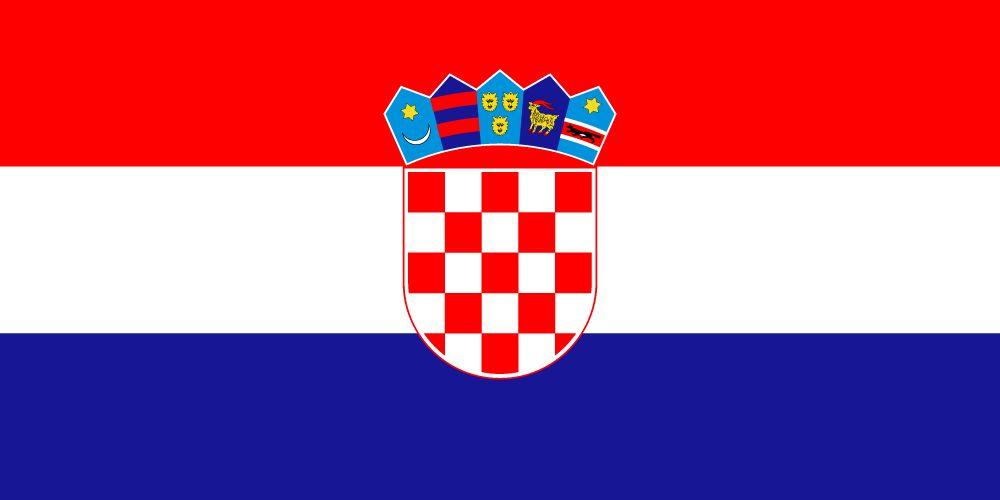 crown in croatia flag above the sahonvica